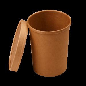 Упаковка для супов, каш, мороженого с картонной крышкой